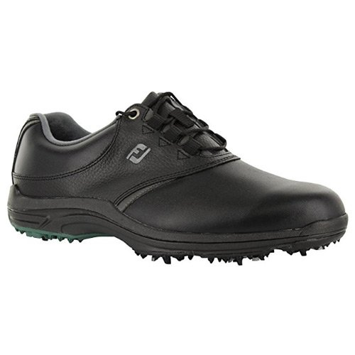 FootJoy CLOSEOUT GreenJoys Men's Golf Shoes - Black/Charcoal (12.0 D(M) US) by FootJoy