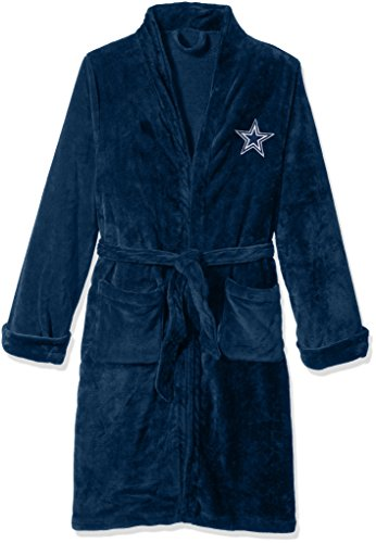 The Northwest Company Officially Licensed NFL Dallas Cowboys Men's Silk Touch Lounge Robe, Large/X-Large