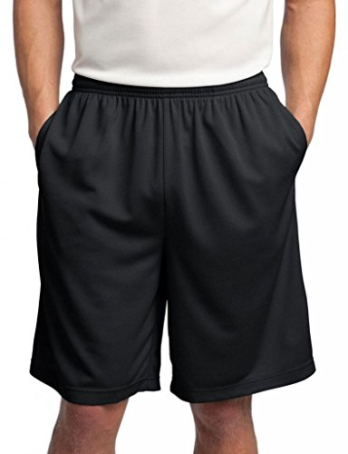 Sport-Tek Men's Comfort Side Pocket Performance Short_Black_X-Large