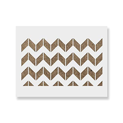 Chevron Horizontal Stencil Template - Reusable Large Wall Stencils for Painting and Home Decor & Interior Design - Size: 33