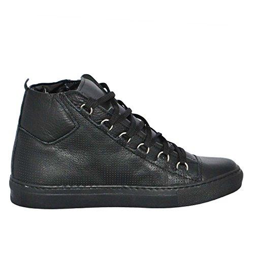 Los Mejores Precios De Venta Solicitud De Aceptación Malu Shoes Sneakers Uomo Alta Stringata Nera Pelle Made in Italy Men Shoes Scarpe El Pago De Visa Aclaramiento 0mD3sbd