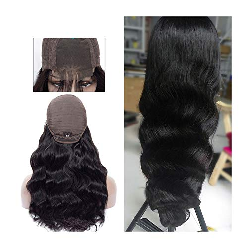 Carrie Lace Front Human Hair Wigs 4X4 Closure Lace Wigs Remy Brazilian Hair Body Wave Wig Lace Front Wig With Baby Hair,Natural Color,16Inches,China -