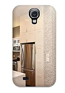 Premium Durable Modern White Kitchen And Split-face Marble Tile Walls Fashion Tpu Galaxy S4 Protective Case Cover