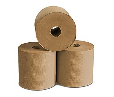 b4schools duro herida toallas de papel – Natural, 6 rollos, 800 Por rollo