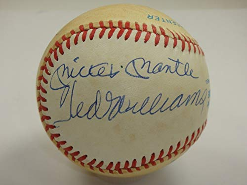 Mickey Mantle Ted Williams Joe Dimaggio Autographed Signed Autograph Beckett Certified Baseball Auto