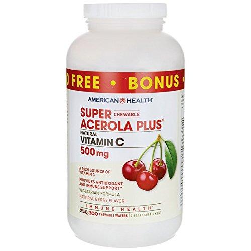 Super Acerola Plus Vitamin C - Berry 500 Milligrams 300 ()