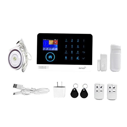 Dovewill New GSM+WIFI+3G Wireless Intelligent Alarm System Home Business Security Alarm Alert , Support App Remote Controlled, Dual Intercom Voice (Wireless Alert Intercom)