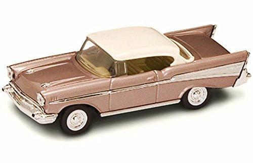 Road Signature 94201 1957 Chevrolet Bel Air Pearl 1/43 Diecast Model Car