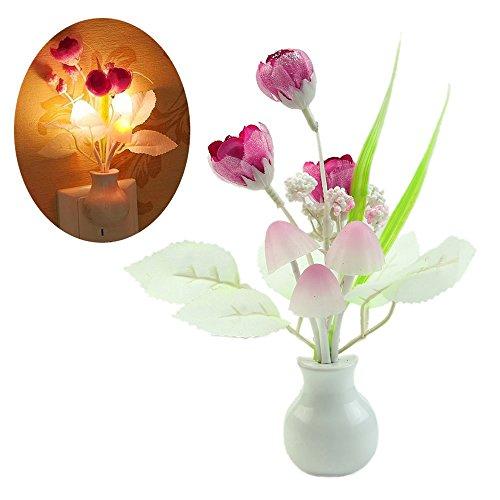 Fengzhicai Tulip LED mushroom Nightlight Wall Light Sensor Baby Bedroom Decoration Lamp