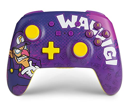 POWER A Enhanced Wireless Controller for Nintendo Switch - Waluigi, Nintendo Switch Lite, Gamepad, Game Controller, Bluetooth Controller, Rechargeable - Nintendo Switch
