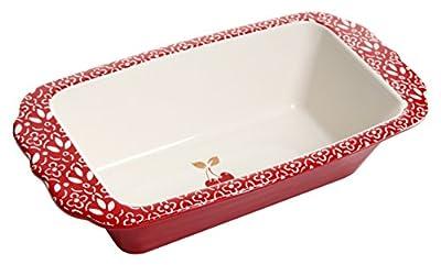 General Store by Gibson 16 Piece Cherry Diner Handpainted Durastone Dinnerware Set, Red