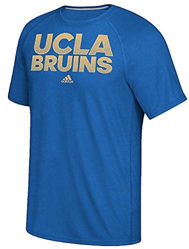 adidas UCLA Bruins Bright Royal Sideline Hustle Climalite Short Sleeve Shirt by (Large)