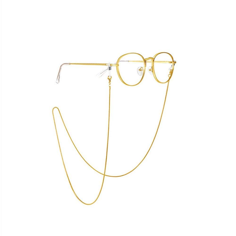 Cha/îne de lunettes Cha/îne de lunettes Acier inoxydable Placage sous vide Protection durable de la couleur Lunettes Lunettes de soleil Lunettes de soleil Cha/îne suspendue Cha/îne Serpent Cha/îne de lunet