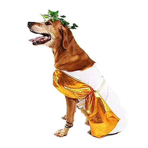 Roman Toga Dog Costume Cute Halloween Dog Costume Fashion Cosplay Dress for Puppy Small Medium Large Dogs Special Events Funny Photo Props Accessories]()