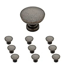 "Franklin Brass P29523K-WCN-B Flat Top Round Knob 1-3/16"" (30mm) Aged Bronze 10 Piece"
