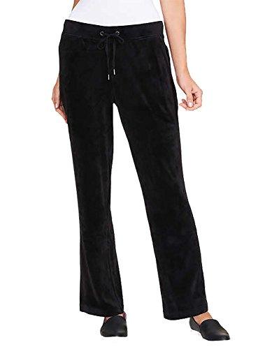 Gloria Vanderbilt Ladies' Jemma Ultra Soft Velour Pants (Black, Small)
