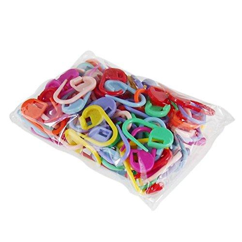 - 50pcs Mix Mini Knitting Crochet Locking Stitch Plastic Markers Needle Clip Craft
