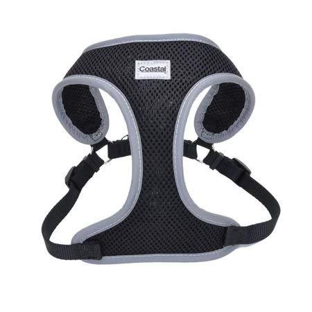 Coastal Pet Reflective Adjustable Dog Harness Black 5 8 Inch X 23 Inch