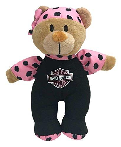 (Harley-Davidson Harley Cutie 8in. Shake Rattles & Roll Bear, Black/Pink 9900843)