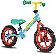 CYCMOTO 12 Inch Balance Bike with Air Tire (Blue & Pink &a