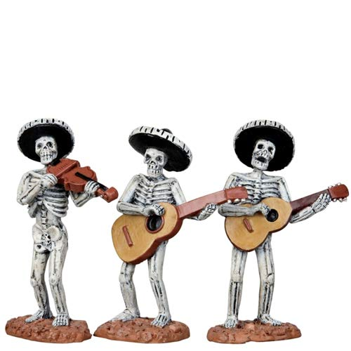 Lemax Spooky Town Skeleton Mariachi Band, Set of 3 #12884 -