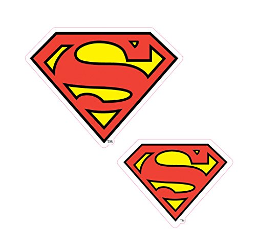 Enjoy It DC Comics Superman Logo Car Stickers, 2 pieces, Outdoor Rated Vinyl Sticker Decal