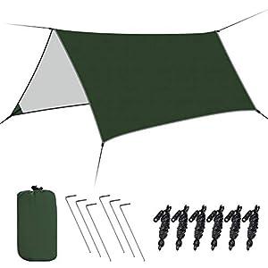 Haibei防水タープ タープテント サイドシート 軽量 高耐水加工 紫外線カット 遮熱