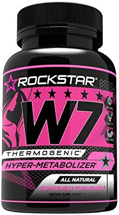 W7 Thermogenic Fat Burner, Weight Loss Pills for Women, Diet Pills by Rockstar, Carb Block Appetite Suppressant, 60 Count
