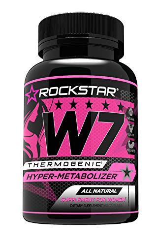 W7 Thermogenic Fat Burner, Weight Loss Pills for Women, Diet Pills by Rockstar, Carb Block & Appetite Suppressant, 60 Count (Quickest Way To Lose Belly Fat Without Exercise)