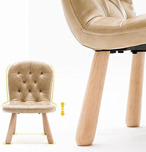 Rollsnownow PU Brun foncé Mat Solide Bois Enfant Chaise Chaise Chaise Basse Tabouret École maternelle Chaise D'apprentissage Chaise D'apprentissage Canapé Chaise