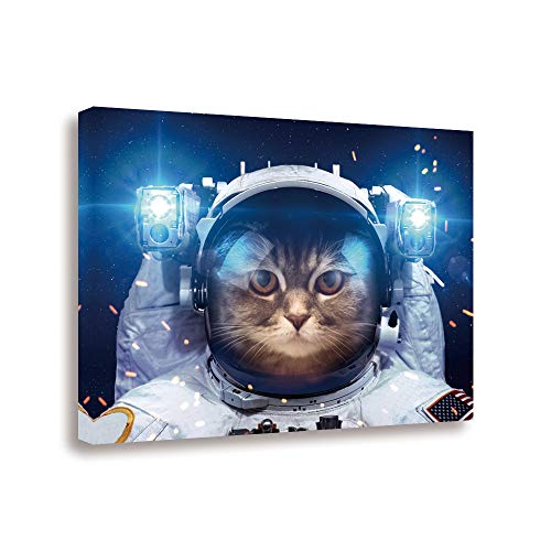 GEVES Astronaut Cat Canvas Wall Art Paintings Print Pictures 16