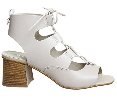 Office Mallorca Ghillie Block Heels Grey Leather Sxept