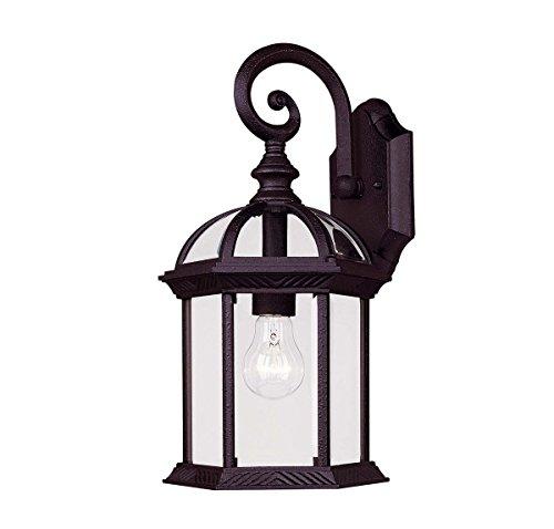 Savoy House 5-0633-BK, Kensington Wall Mount Lantern, Textured Black
