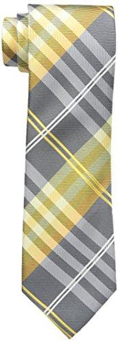 (Geoffrey Beene Men's Petros Plaid Ii Tie, Yellow, Regular)