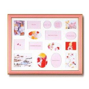 ファミリーフォトフレーム大/写真立て 【ピンク 壁掛け用】 いわさきちひろ 日本製 B075BDP845