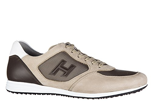 Hogan Scarpe Sneakers Uomo in Pelle Nuove h205 Olympia h 3D Beige