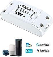 Btuty RF Interruptor Wifi RF 433MHz Compatível com Alexa para Home Interruptor 10A / 2200W Wireless com Função