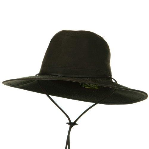 DPC//Scalar UPF 50 Oil Cloth Safari Hat Brown W08S62E