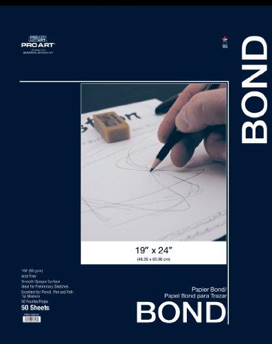 (PRO ART 19-Inch by 24-Inch Bond Paper Pad)
