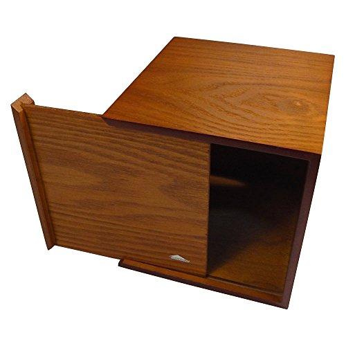 Tomokazu Powell Oak Wood Boutique Facial Tissue Box Cover/Wooden Holder/Paper Dispenser by Tomokazu (Image #2)