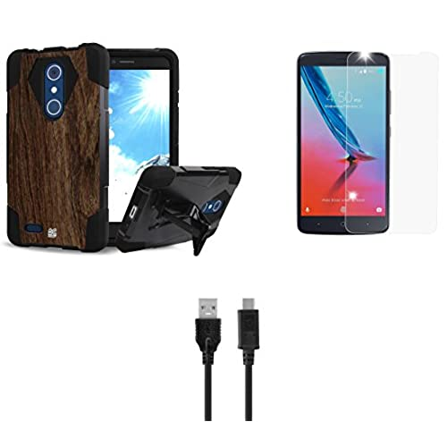 ZTE Max XL - Accessory Bundle: Slim Rugged [Impact Resistant