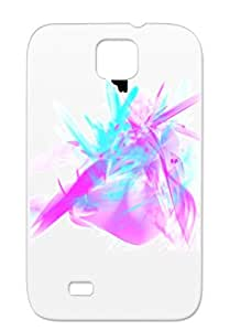 Black Drop Resistant Pink Blue Art Design Fantasy Heart Abstract TPU AB. Heart For Sumsang Galaxy S4 Cover Case
