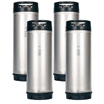 ASI CKN5DRHINX4PK New 5 Gallon Ball Lock Keg NSF Rubber Handle Set of 4