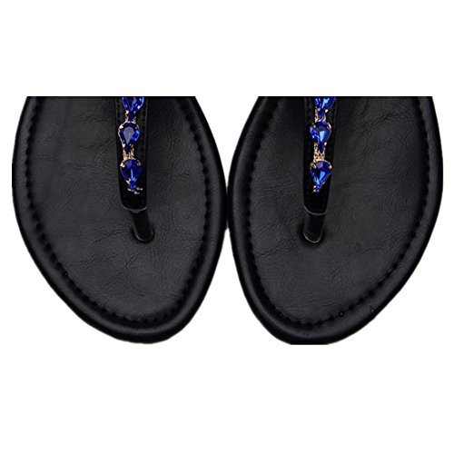 Las nuevas sandalias planas femeninas no - Playa de deslizamiento zapatos de ocio palabra Ding , 39