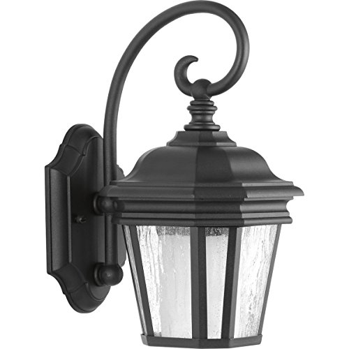 Progress Lighting P6630-31 Transitional One Light Wall Lantern from Crawford CFL Collection in Black Finish