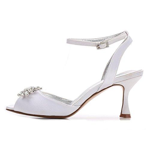 L@YC Frauen-Hochzeits-Schuhe D17061-59 Rhinestone-Niedrige Mittlere Katze Mit abend-Partei-Offenen Zehe-Formalen Klassischen Schuhen Champagne