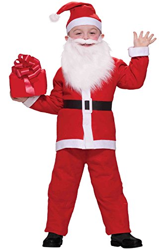 [Child Simply Santa Costume,One Size Fits up to Size 10] (Claus Costume)