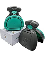 MonPtit Pooper Scooper, Portable Sanitary Dog Waste Pick Up with Bag Dispenser, in 2 Sizes for Large Medium Small Dog Cat or Pet, Durable Poop Cleaner, Easy to Use, Comfortable Grip, One-handed Cleanups on All Surfaces, Healthy and Convenient