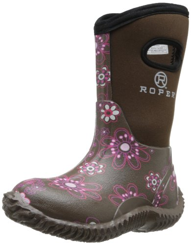 Kid's Muck Boots come in fun designs and colors that match the personality of any child. Younger girls may love a pair of bright pink boots with a matching pink plaid lining inside. Shoppers will also find lots of designs for boys, including kid's Muck Boots in black, brown, blue and even camouflage print.