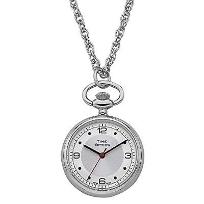 TimeOptics Women's Silver-Tone Quartz Pendant Watch Silver Sunray Dial # GWC1700S